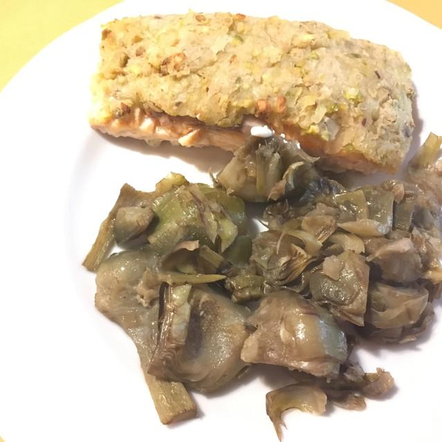 saumon mi-cuit en croûte