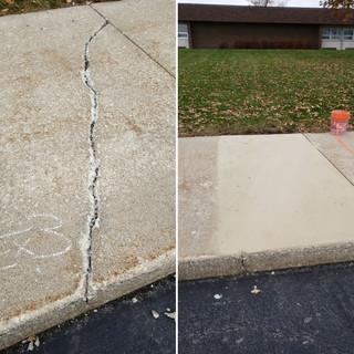 Concrete Crack Concrete in Hinsdale IL.
