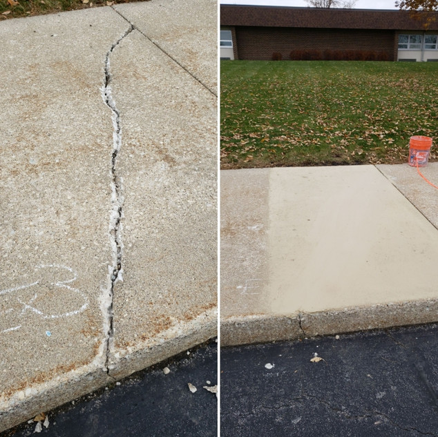 Concrete Crack Concrete in Hinsdale IL.