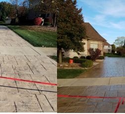 Stamped Concrete Cleaning & Sealing