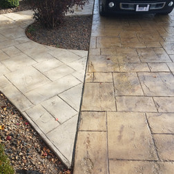 Stamped Concrete Cleaning and Sealing