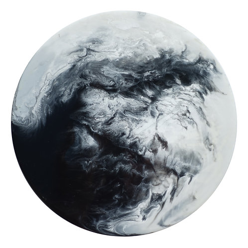 【Black & White・月球體・手工掛牆裝飾】40cm