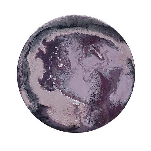 【Purple nightshade・深紫葵・月球體・手工掛牆裝飾】30cm