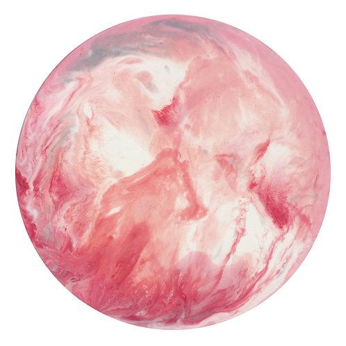 【 Pink 紅粉・月球體・手工掛牆裝飾】30cm