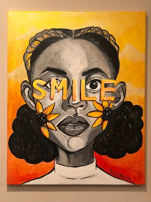 Smile 16x20 Original Painting