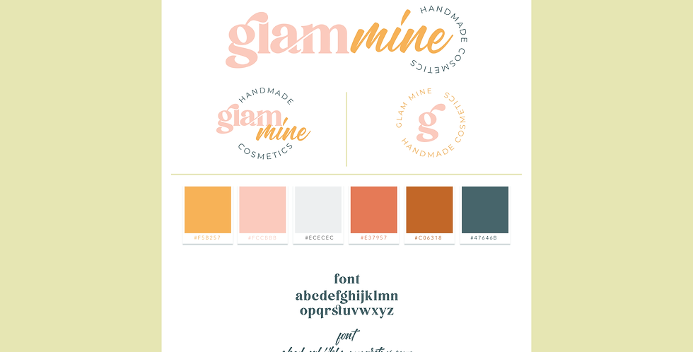 Glam Mine - ReadyMade Brand Identity
