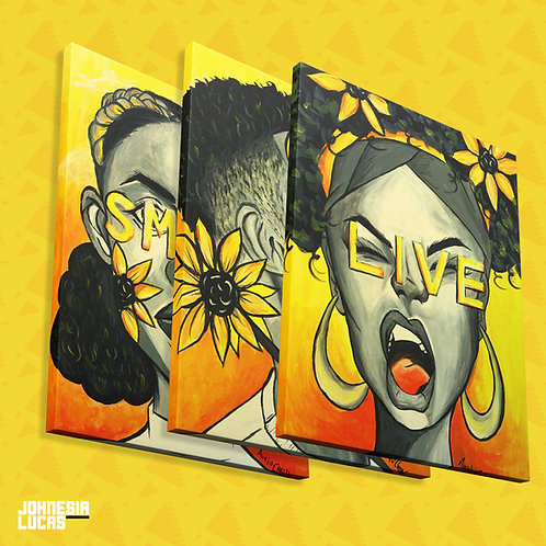 SMILE GROW LIVE CANVAS PRINTS