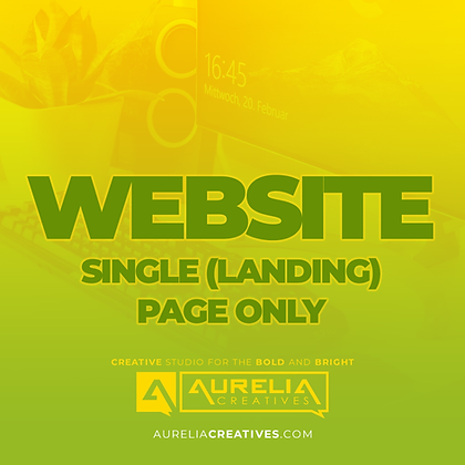 Website Single Page Design