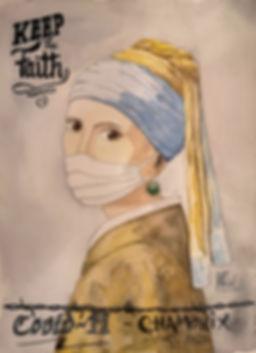 La jeune-fille à la perle covid-19