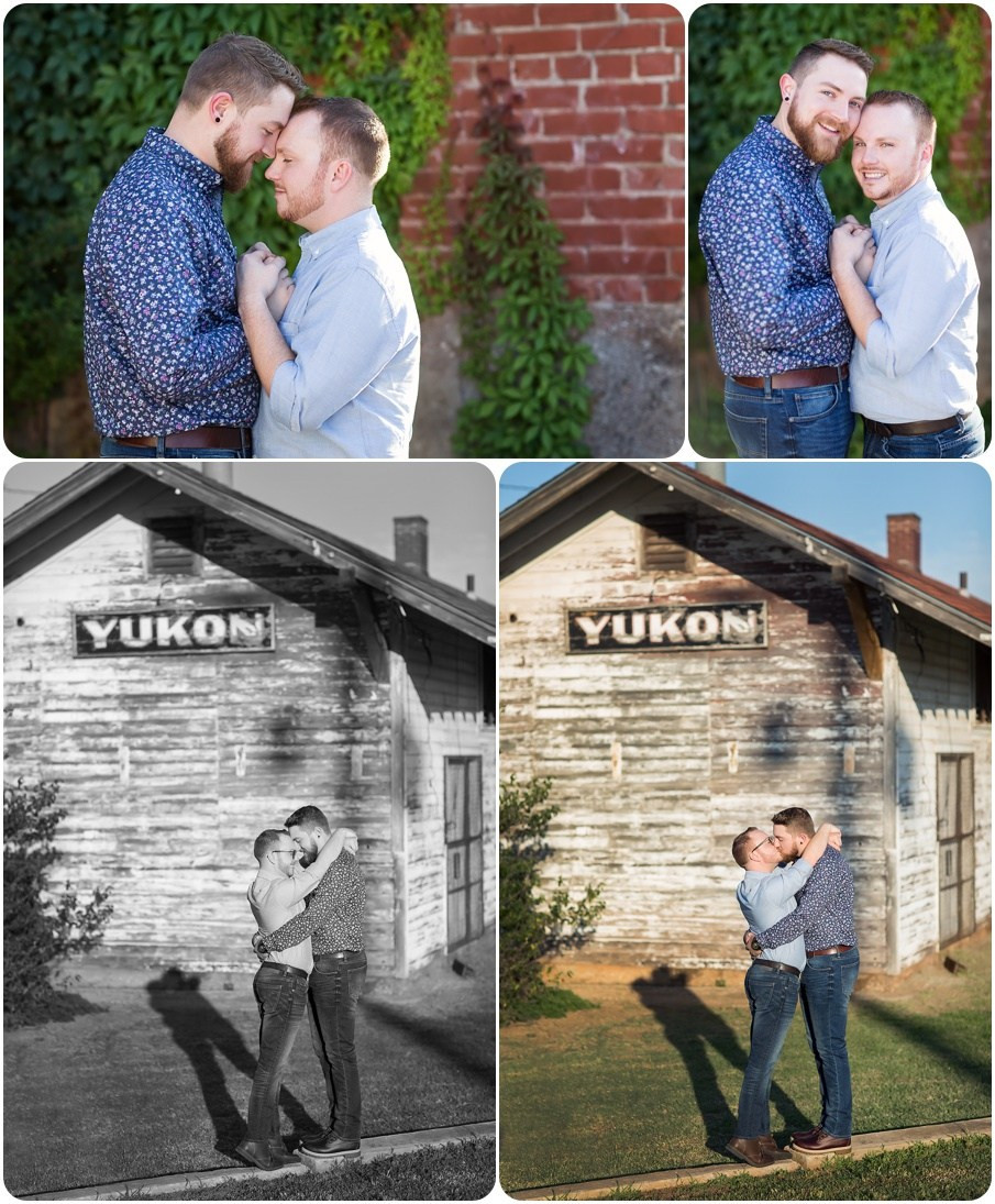 gay engagement session
