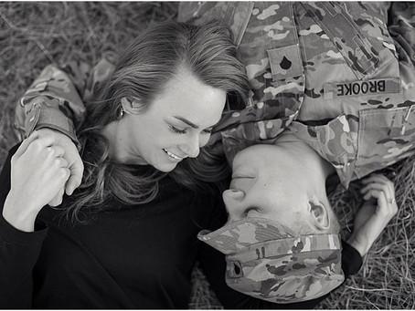 Oklahoma Military Engagement Photographer- Photos by Keshia