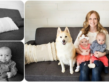 Mommy & Me – Twins + Dog Edition – Photos by Keshia