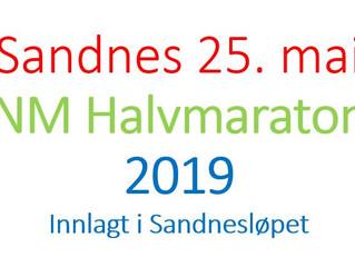 Sandnesløpet med innlagt NM i halvmaraton 25. mai 2019