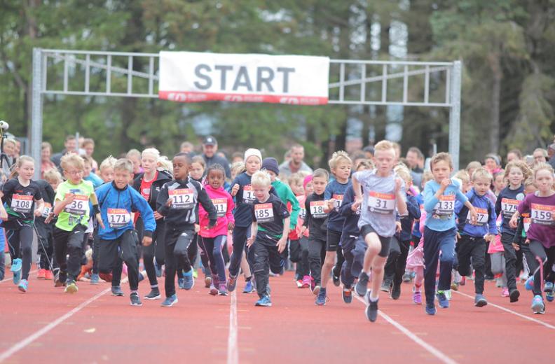 Start av barneløpet 2019