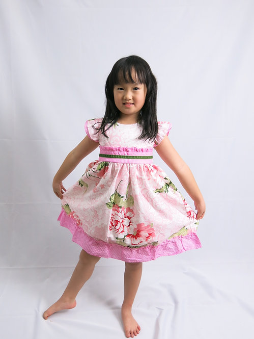 Super sweet and classic pink cotton dress