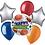 Thumbnail: Happy Birthday Sports Balloon Bouquet