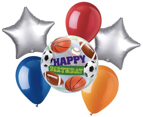 Happy Birthday Sports Balloon Bouquet