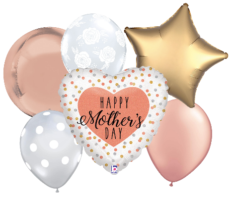 Mother's Day Rose Gold Balloon Bouquet
