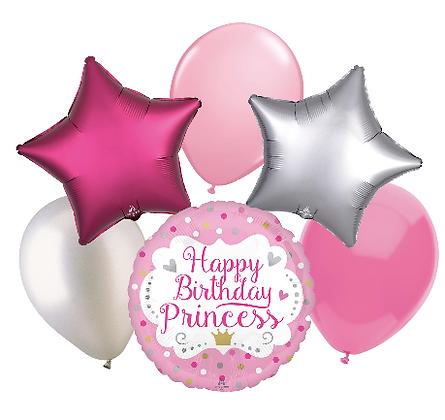 Happy Birthday Princess Balloon Bouquet