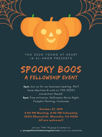 SPOOKY BOOS: A Ghoulish Fellowship Event