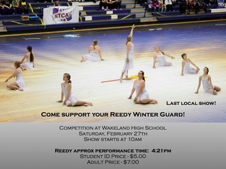 Mid-Winter Concert, Percussion and Winterguard!