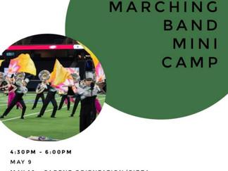 Marching Band Mini Camp and Kickoff Camp