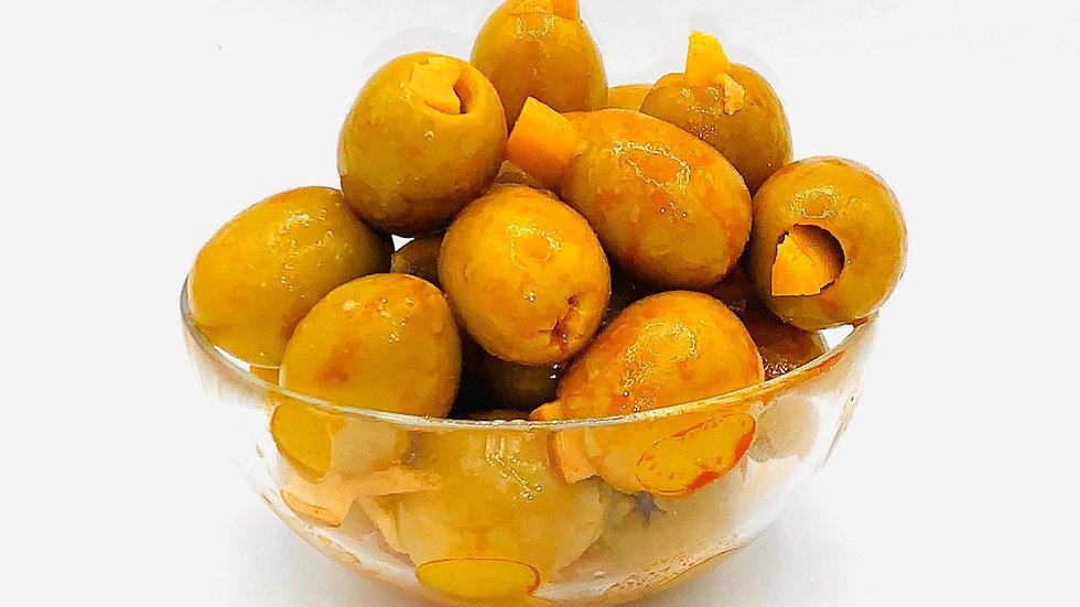 Оливки фаршированные баклажаном