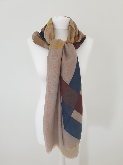 Oversized Scarf with Tassels YLW