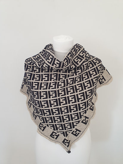 Luxury Wool and Cotton Triangle Scarf