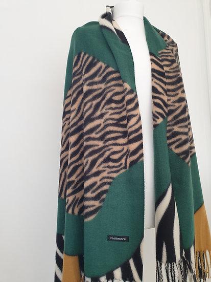 Cashmere Latest Style Scarf With Zebra-Print