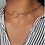 Thumbnail: Circle Style Necklace Gold effect finish