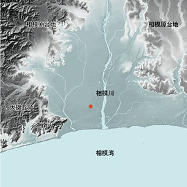 高田馬場地形図