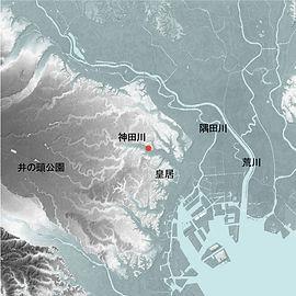 神田川流域リノベーション計画地形図