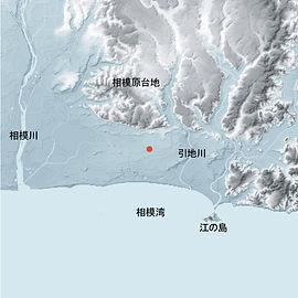 湘南シークロス住宅街区地形図