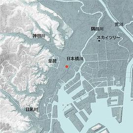 住友商事八重洲ビル+京橋ビル地形図