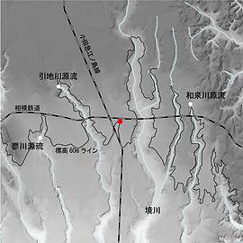 桜上水ガーデンズ地形図