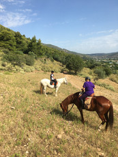 Horse riding vacation trip Pelion