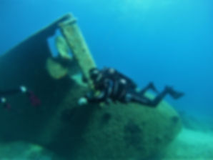 Scuba dive on whip wreck - Athens Extrem