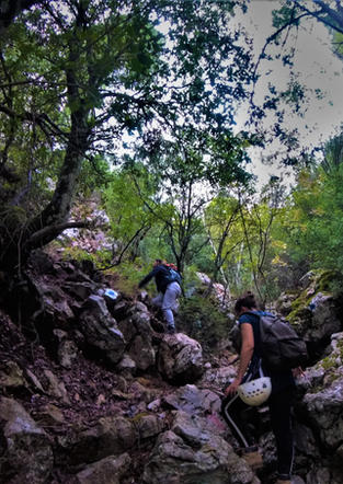 Hiking to Panos cave - Athens extreme sp