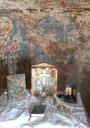 Chapel at the cave of Penteli - Athens e