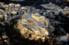 Airplane view - Acropolis. Athens Extreme Sports