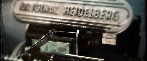 Vintage Heidelberg Letterpress Platen printing press