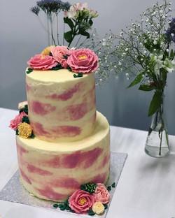 Vanilla Buttercream Wedding Cake