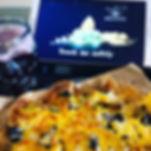 Nachos - Tortillachips mit Bohnenmus überbacken mit Käse