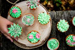 Cactus Buttercream Cupcakes