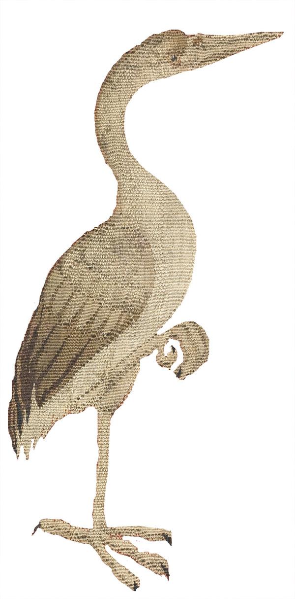 détail tapisserie (héron)