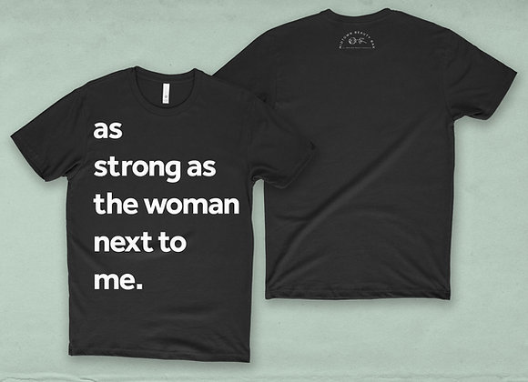 As strong as the woman next to me