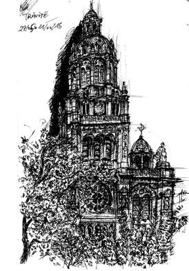 Croquis-Église de la Trinité