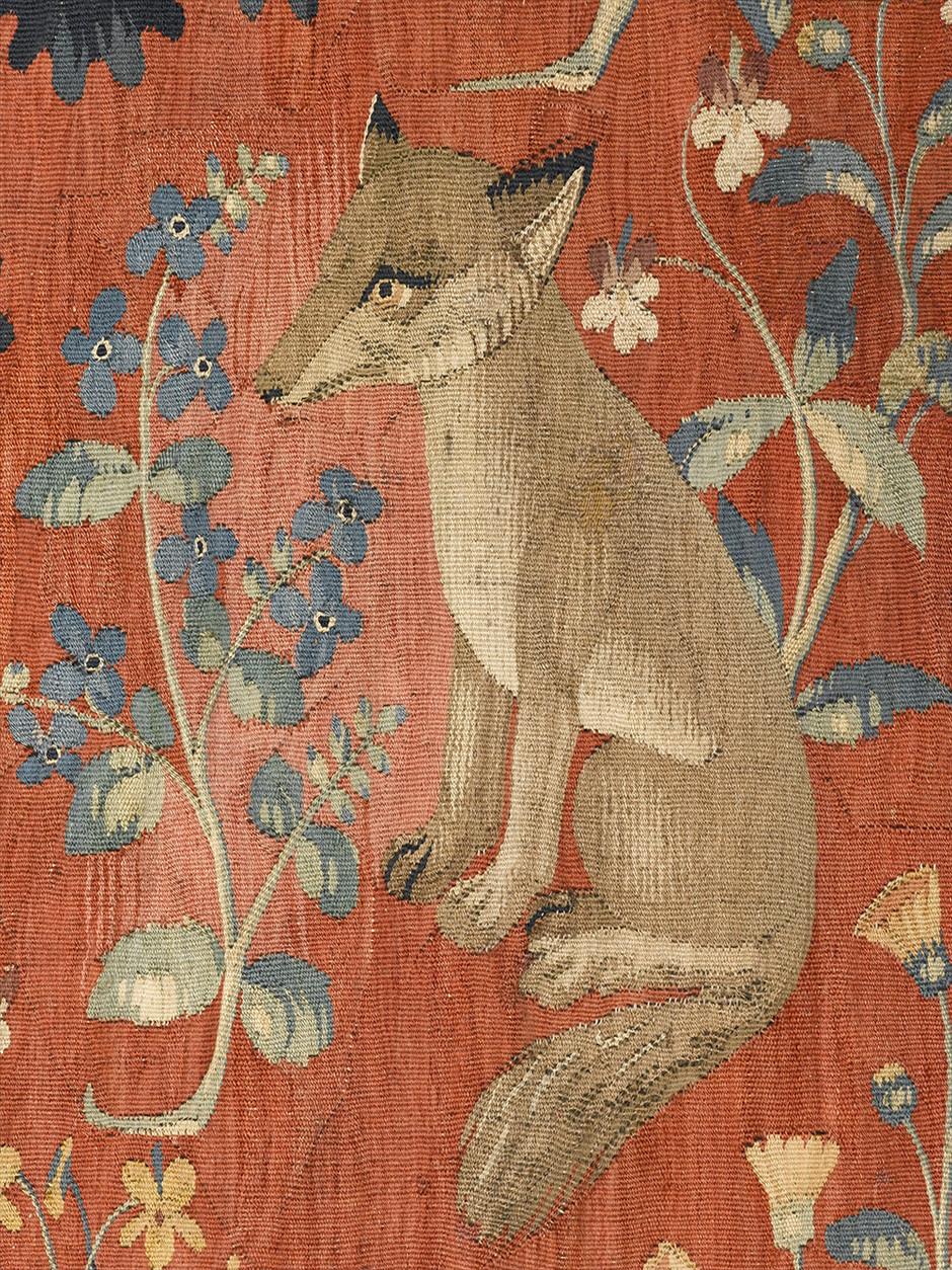 détail tapisserie (renard)