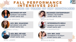 Round 1 of our Fall Performance Intensives are BACK - Save $20 by 9/23!